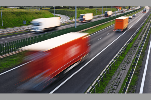 Trucks on four lane controlled-access highway in Poland. Bild: Adobe stock-monticellllo