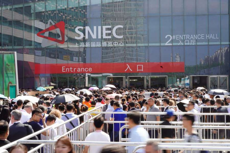 Das Shanghai New International Expo Centre SNIEC ist Veranstaltungsort der Messe transport logistic China. | Foto: Messe München