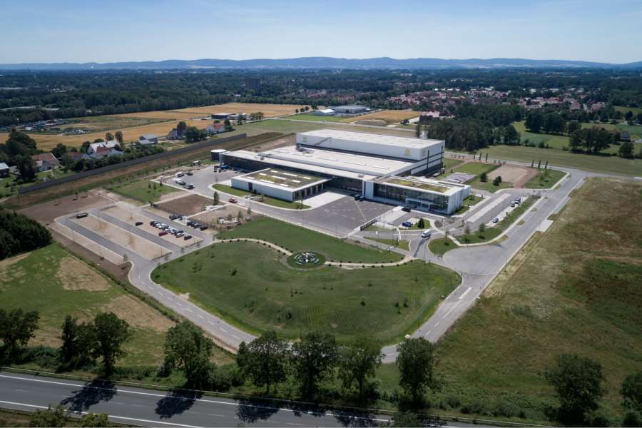 Das neue European Distribution Center (EDC) in Espelkamp. | Bild: Harting Deutschland