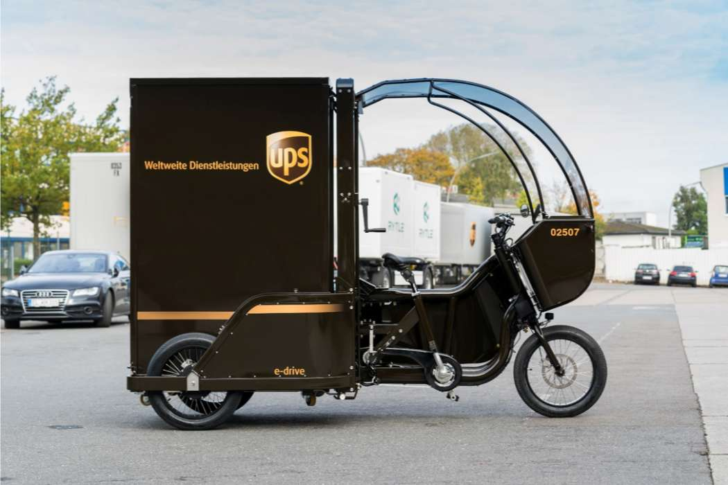 city logistik ups stellt erste rytle cargobikes in dienst antriebsarten kraftstoffe und. Black Bedroom Furniture Sets. Home Design Ideas